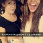 Host and student shopping in Barcelona